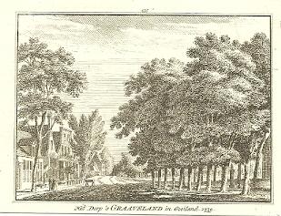 [GRAVELAND]. - Het Dorp 's Graaveland in Gooiland. 1739. HAEN, Abr. de & Hendrik SPILMAN