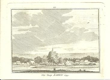 [LAREN]. -  Het Dorp Laren. 1739. HAEN, Abr. de & Hendrik SPILMAN