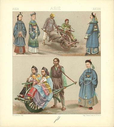 Asia - Asie - Asien. Chromolithograph plate by Urrabietta. ASIA