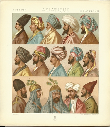 Asiatic - Asiatique - Asiatisch. Chromolithograph plate by Percy. ASIA