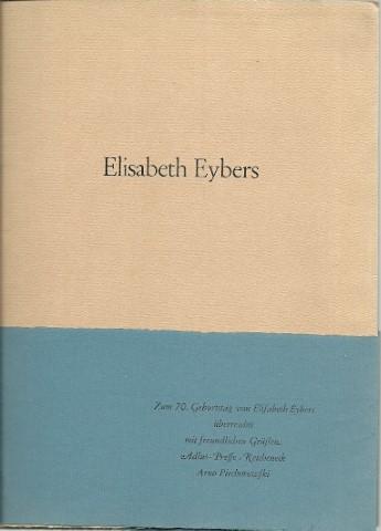 Zwölf Gedichte. Afrikaanse Lyrik. EYBERS, Elisabeth