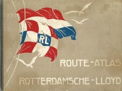 Route-Atlas van de Rotterdamsche Lloyd. 2e druk. [Geen passagierslijst]. JONGH, G.J.J. de [Samengesteld door]