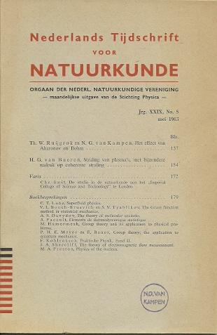 Het effect van Aharonov en Bohm. RUIJGROK, Th. W. & N.G. van KAMPEN