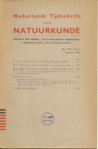 De Fokker-Planckvergelijking. KAMPEN, N.G. van
