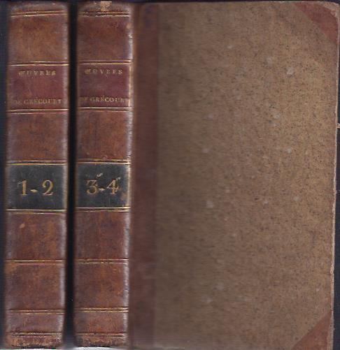 Ouvres diverses. Nouvelle édition, Augmentée du Philotanus, de la Bibliothèque des Damnés, &c. GRÉCOURT, [Jean Baptiste Joseph Willart de]