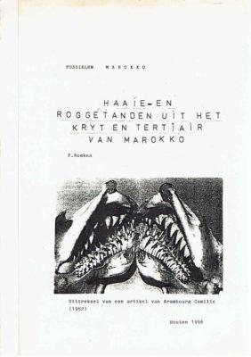 Haaie- en Roggetanden uit het Kryt en Tertiair van Marokko. Fossielen Marokko.  Uitreksel van een artikel van Arambourg Camille (1952). [ARAMBOURG] - REMKES, P.