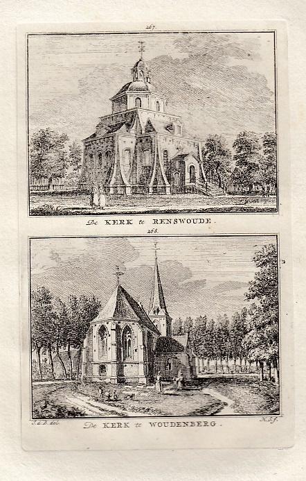 [RENSWOUDE en WOUDENBERG]. - De kerk te Renswoude. - De kerk te Woudenberg. BEIJER, Jan de & Hendrik SPILMAN