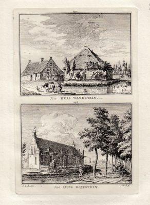 [AMERONGEN]. - Het Huis Wayestein. - Het Huis Rojestein. BEIJER, Jan de & Hendrik SPILMAN