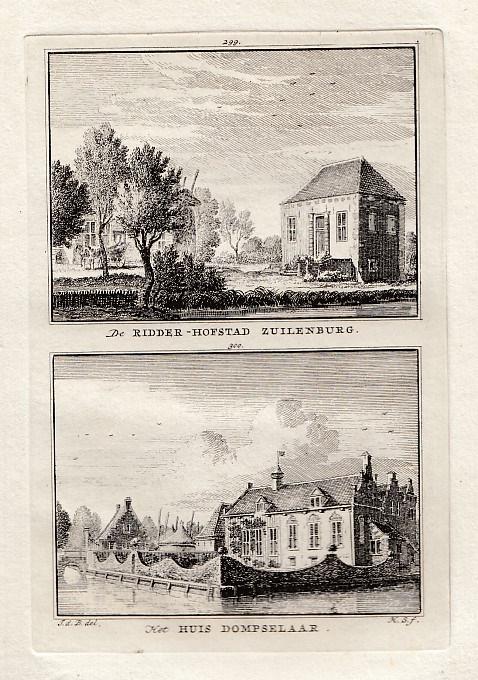[OVERLANGBROEK]. - Ridder-Hofstad Zuilenburg. - Het Huis Dompselaar. BEIJER, Jan de & Hendrik SPILMAN