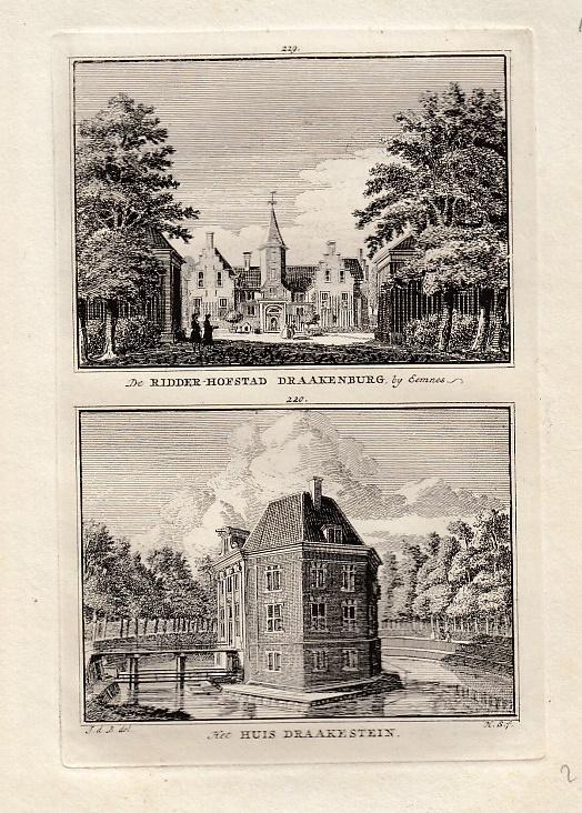 [BAARN]. - De Ridder-Hofstad Draakenburg bij Eemnes. - Het Huis Draakestein. BEIJER, Jan de & Hendrik SPILMAN