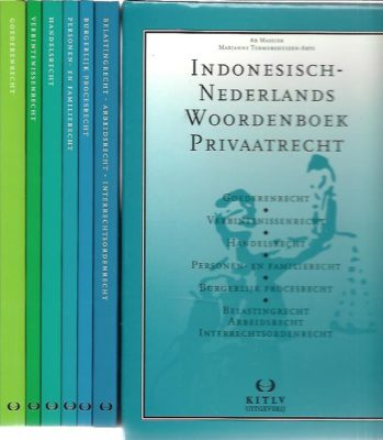 Indonesisch-Nederlands Woordenboek Privaatrecht. [6 volumes]. MASSIER, Ab & Marjanne TERMORSHUIZEN-ARTS