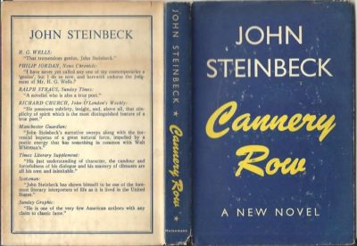 Cannery Row. [A new novel]. [First published October 1945 - Reprinted November 1945]. STEINBECK, John