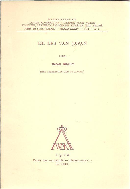 De les van Japan (met tekeningen van de auteur). BRAEM, Renaat