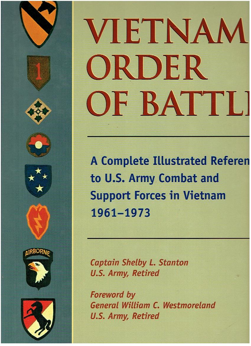 Vietnam Order of Battle. A Complete Illustrated Reference to U.S. Army Combat and Support Forces in Vietnam 1961-1973. STANTON, Shelby L.
