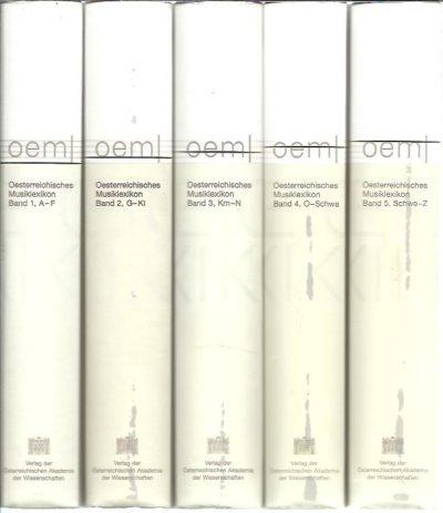 Oesterreichisches Musiklexikon - Band 1-5 [Complete set]. FLOTZINGER, Rudolf [Hrsg]