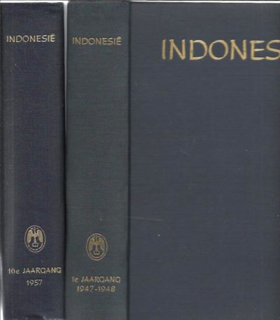 Indonesië. Tweemaandelijks tijdschrift gewijd aan het Indonesisch Cultuurgebied 1ste Jaargang 1947-1948 [t/m] Tiende Jaargang 1947 [10 volumes]. INDONESIE