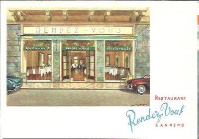 Restaurant Rendez Vous - Sanremo [Ristorante ''Rendez Vous'' - 90 Rue Matteotti - Sanremo - Prop. M. Mattiuzzi. ANSICHTKAART - PICTURE POSTCARD