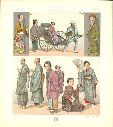 Japan - Japon - Japan. Chromolithograph plate by Urrabietta. JAPAN