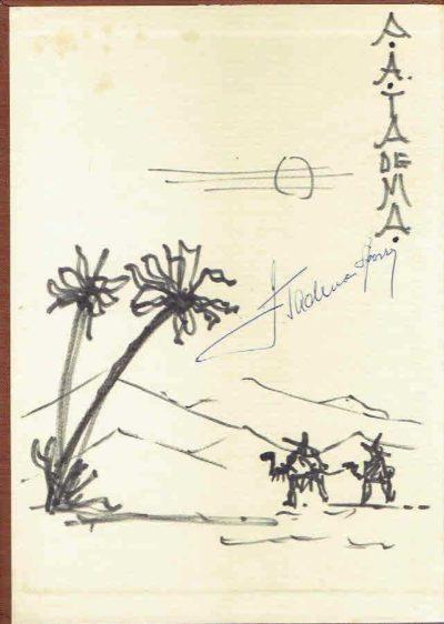 Sahara. [Signed + drawing] [Tekst Nederlands] TADEMA, Auke A. & Bob TADEMA-SPORRY