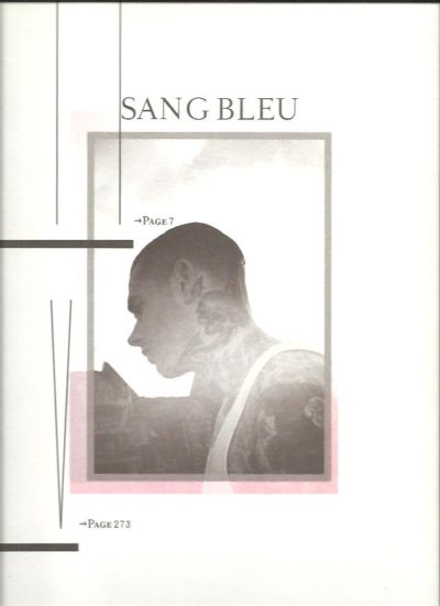 Sang Bleu Issue III/IV. - As new with several loose inserts and CD. [BUECHI, Maxime - editor in chief]