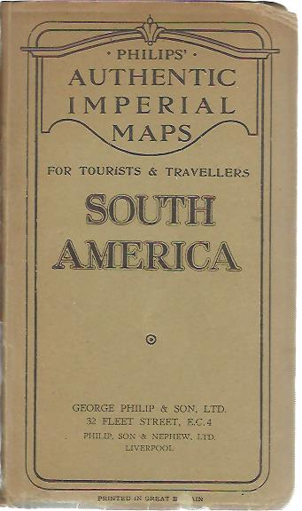 Philips' authentic imperial maps for tourists & travellers South America. Scale 1:12,000,000 (192 miles = 1 inch). SOUTH-AMERICA