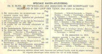 Speciale Haven-Aflevering. - Tijdschrift voor economische geographie. Orgaan der Nederlandsche vereeniging voor economische geographie. 4de Jaargang 15 mei 1913. - No.5. BLINK, H. & R.E. KIELSTRA [Red.]