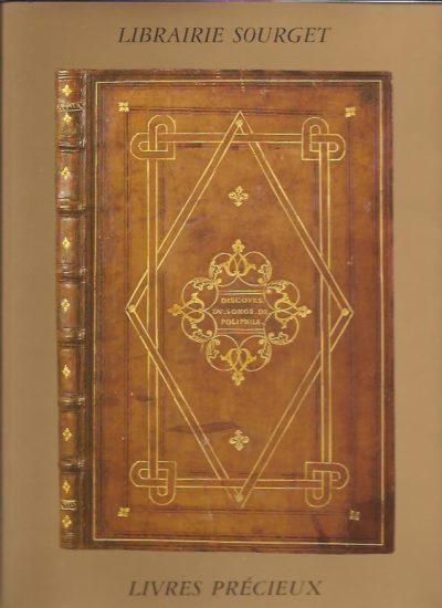Librairie Sourget. Manuscrits enluminés et Livres précieux 1235-1932. Catalogue No XXVIII. [With price-list]. CATALOGUE