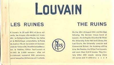 Louvain. Les ruines - The ruins. GREAT WAR