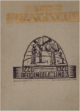 S. Franciscus-Map. [1226 -1926]. Origineele lino's door P. Fr. Reinald Rats O.F.M. - Lino's met de hand gedrukt en gekleurd. REINALD: OFM , Fr