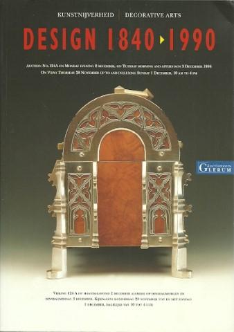Design 1840-1990. [Veiling catalogus Glerum] Maandagavond 2 december alsmede dinsdagmorgen en dinsdagmiddag 3 december 1996.