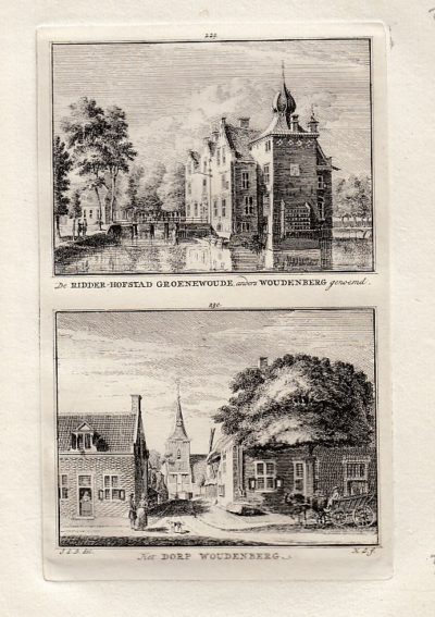 [WOUDENBERG]. - De Ridder-Hofstad Groenewoude, anders Woudenberg genoemd. - Het dorp Woudenberg. BEIJER, Jan de & Hendrik SPILMAN