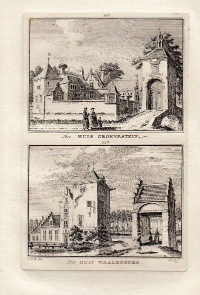 [LANGBROEK]. - Het Huis Groenestein. - Het Huis Waalenburg. BEIJER, Jan de & Hendrik SPILMAN