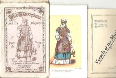 The Tabenacle and its services. 12, Pictures in Gold and Colours, with Descriptions. WHITE, Frank H.