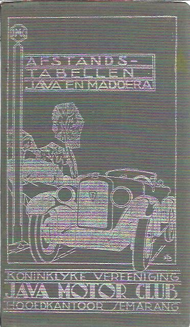 De Koninklijke Vereeniging Java Motor Club - Afstandtabellen. 12e Uitgave. JAVA MOTOR CLUB