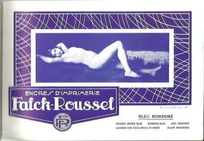 Encres d'imprimerie Falck-Roussel - Spécimens couleurs.