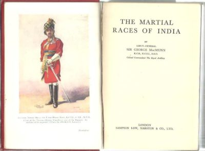 The Martial Races of India. MacMUNN, George