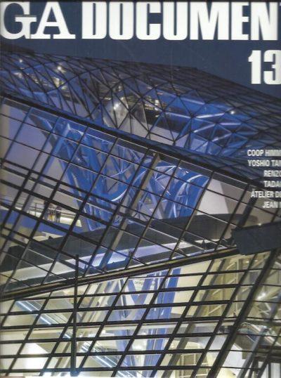 GA Document 131 - Coop Himmelblau - Yoshio Taniguchi - Renzo Piano - Tadao Ando - Atelier Deshaus - Jean Nouvel. FUTUGAWA, Yoshio [Ed.]