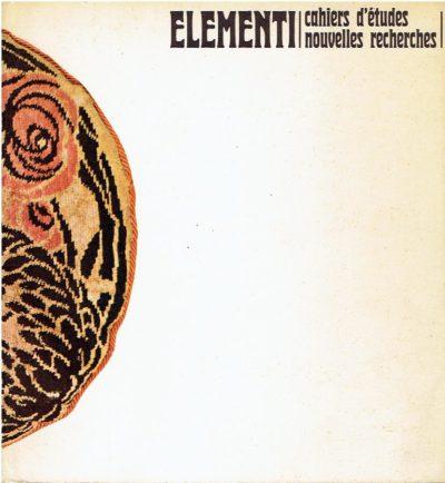 Elementi. Cahiers d'etudes nouvelles recherches - Année V-no. 1. MININI, Fabio / Mila PISTOI [Texte]