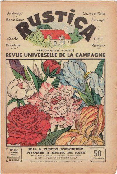 Rustica - Revue universelle de la campagne - No 27 - 3 Juillet 1932 + No 3 - 15  Janvier 1933 RUSTICA