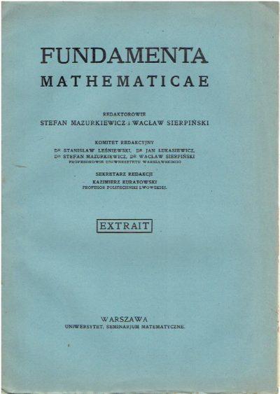 Über approximativ stetige Funktonen von zwei (und mehreren) Veränderlichen. Extrait de 'Fundamenta Mathematicae' T. XIII. RIDDER, J.
