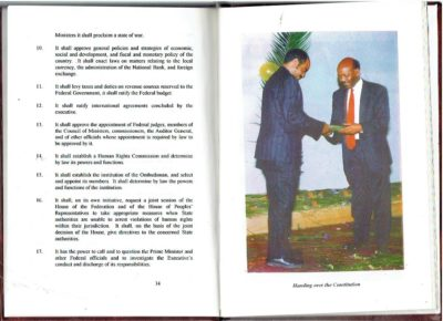 Constitution of the Federal Democratic Republic of Ethiopia. - 8 December 1994 - Addis Abeba. ETHIOPIA